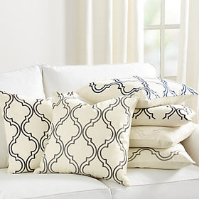 """Rosselli 20"""" Embroidered Pillow Cover"""