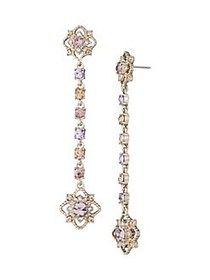 Marchesa Goldtone and Glass Stone Cluster Linear D