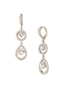 Givenchy Goldplated and Crystal Double Drop Earrin