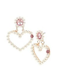 Betsey Johnson Rose Goldtone, Faux Pearl & Crystal