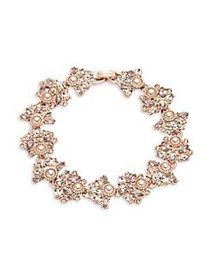 Marchesa Rose Goldtone, Faux Pearl & Crystal Brace