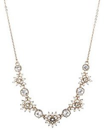 Marchesa Goldtone, Faux Pearl & Crystal Necklace G