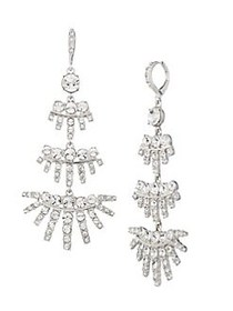 Givenchy Rhodium-Plated & Crystal Chandelier Earri