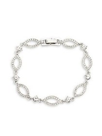 Givenchy Rhodium-Plated & Crystal Bracelet SILVER