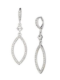 Givenchy Navette Rhodium-Plated & Crystal Drop Ear