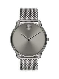 Movado BOLD Ionic-Plated Grey Stainless Steel Mesh