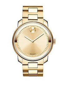 Movado BOLD Yellow Gold IP Stainless Steel Bracele