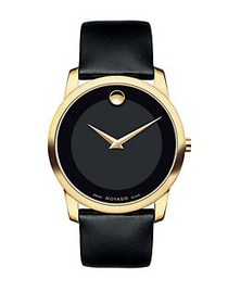 Movado Museum Classic Watch BLACK