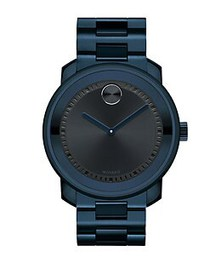 Movado BOLD Stainless Steel Watch DARK BLUE
