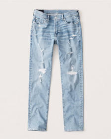 Skinny Jeans, LIGHT RIPPED WASH