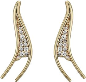 Swarovski Gilded Treasures Pierced Earrings Climbe