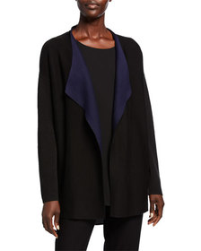 Eileen Fisher Silk/Organic Cotton Piped Cascade Fr