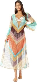 Missoni Mare Stripe Voile Long Cover-Up Dress