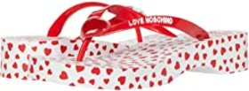 LOVE Moschino Heart Sole Flip-Flop Sandal