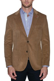 TailorByrd Classic Solid Corduroy Two Button Notch