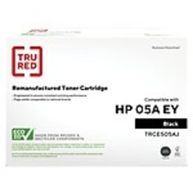 TRU RED™ HP 05A (CE505A) Black Remanufactured Exte