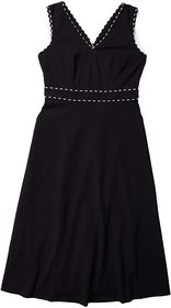 Calvin Klein A-Line Dress with Trim Detail
