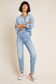 Anthropologie Pilcro Ultra High-Rise Seamed Slim B