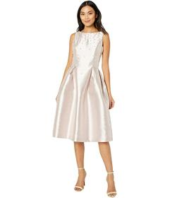 Tahari by ASL Solid Mikado Party Dress with Scaqtt