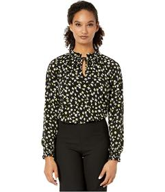 MICHAEL Michael Kors Tossed Lilies Shirred Top