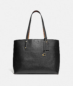 Coach central tote with signature canvas blocking