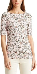 LAUREN Ralph Lauren Floral Cotton Blend Top