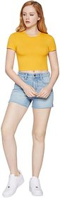 BCBGeneration Short Sleeve Baby Cropped Knit Top -