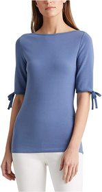 LAUREN Ralph Lauren Cotton-Blend Boatneck Top