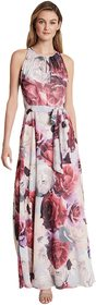 Tahari by ASL Ruched Neck Gown