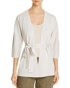 Eileen Fisher - Silk & Organic Cotton Belted Cardi