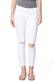 Paige Verdugo Crop Jeans in Leche Destructed
