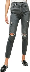 7 For All Mankind High-Waist Ankle Skinny in Retro