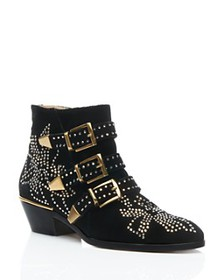 Chloé - Women's Susan Studded Ankle Booties