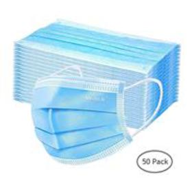 Disposable 3-Ply Fabric Face Mask (Box of 50)