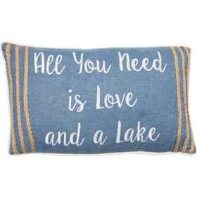 Enchante All You Need is Love and a Lake Throw Pil