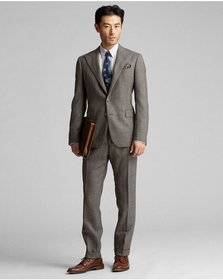 Ralph Lauren Windowpane Wool Suit Jacket