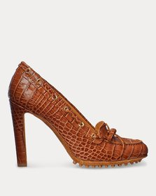 Ralph Lauren Lorean Embossed Calfskin Pump