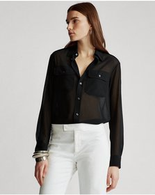 Ralph Lauren Georgette Military Shirt