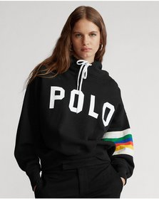 Ralph Lauren Rainbow-Trim Fleece Hoodie