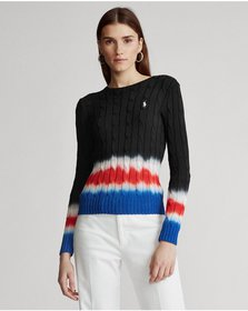 Ralph Lauren Tie-Dye Cable-Knit Sweater