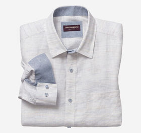 Johnston Murphy Washed Linen Shirt