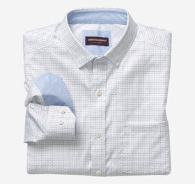Johnston Murphy Step Grid Patterned Shirt
