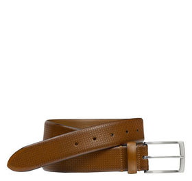 Johnston Murphy Bar Embossed Belt