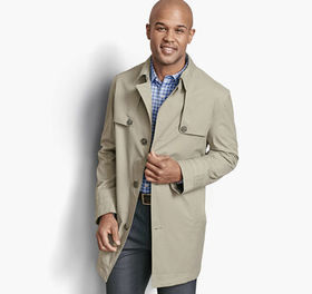 Johnston Murphy Stretch Twill Trench
