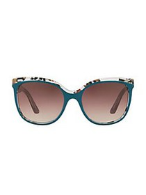Burberry The Marble Check 55MM Butterfly Sunglasse