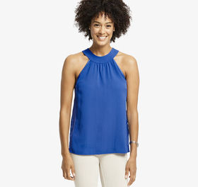 Johnston Murphy High-Neck Sleeveless Blouse
