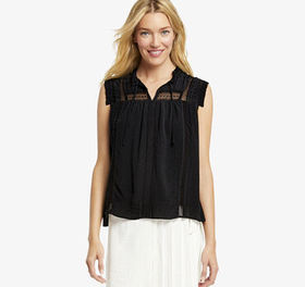 Johnston Murphy Sleeveless Peasant Top