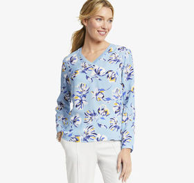Johnston Murphy Print V-Neck Top