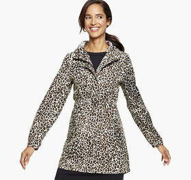 Johnston Murphy Packable Leopard Rain Jacket