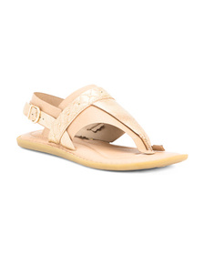 BORN Leather Thong Sandals